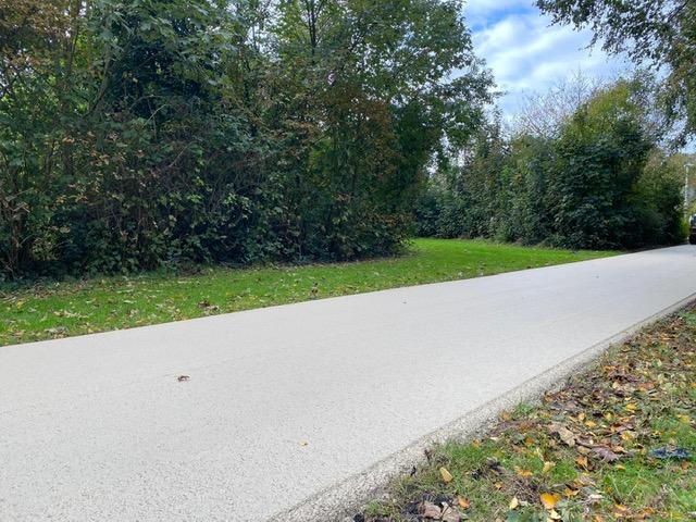Wit asfalt Sealoflex, kleurloos bindmiddel, Texel